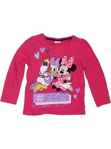 Camiseta de manga larga niña DISNEY rosa 3 años invierno #1300066_1