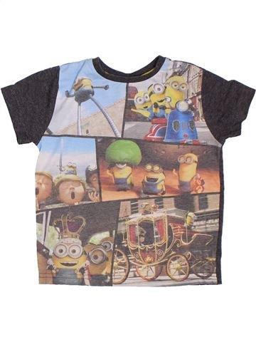 T-shirt manches courtes garçon LES MINIONS gris 4 ans été #1300189_1