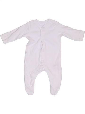 Pyjama 1 pièce unisexe NUTMEG blanc prématuré été #1300284_1