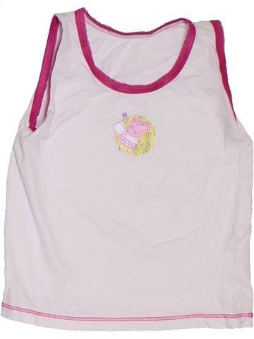 Camiseta sin mangas niña SANS MARQUE blanco 3 años verano #1300358_1