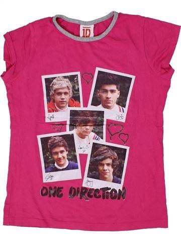 T-shirt manches courtes fille ONE DIRECTION rose 11 ans été #1300712_1