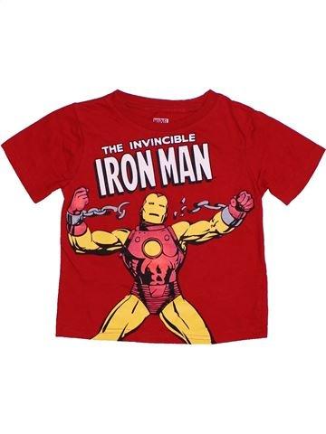 T-shirt manches courtes garçon SUPERS HÉROS beige 4 ans été #1301113_1