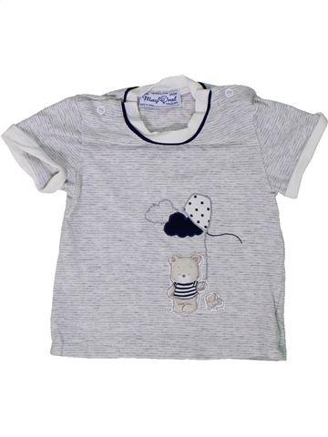 T-shirt manches courtes garçon MAYORAL gris naissance été #1301191_1