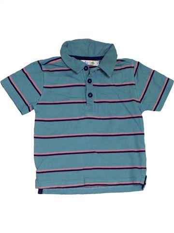 Polo manches courtes garçon M&CO bleu 3 ans été #1301453_1