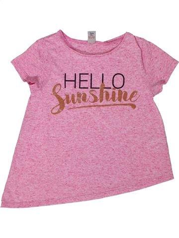 Camiseta de manga corta niña TU rosa 5 años verano #1301645_1
