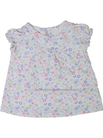 Camiseta de manga corta niña WONDER KIDS blanco 12 meses verano #1301820_1
