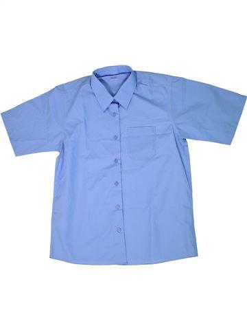 Chemise manches courtes garçon MARKS & SPENCER bleu 14 ans été #1301947_1