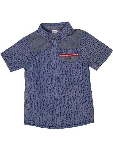 Chemise manches courtes garçon MINI CLUB bleu 5 ans été #1302151_1