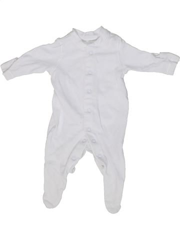 Pyjama 1 pièce unisexe MOTHERCARE blanc prématuré été #1302313_1