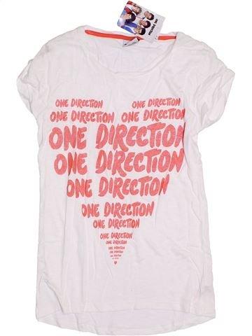 T-shirt manches courtes fille ONE DIRECTION blanc 12 ans été #1302333_1