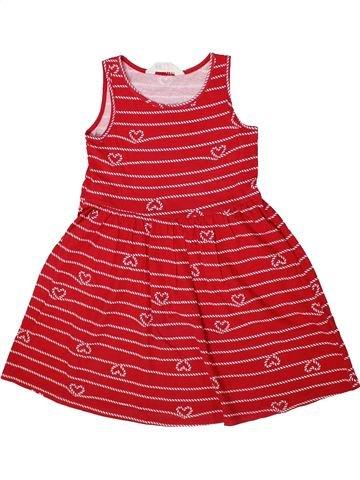 Robe fille H&M rouge 6 ans été #1302455_1