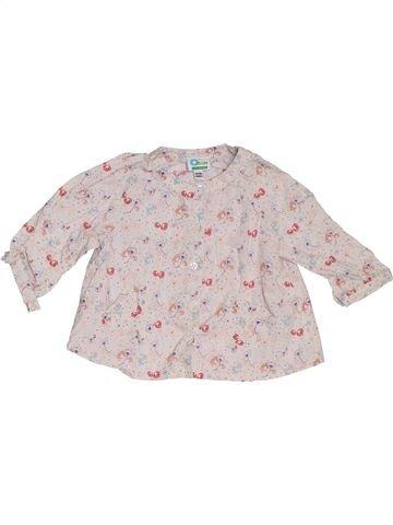 Blusa de manga larga niña VERTBAUDET rosa 6 meses invierno #1302477_1
