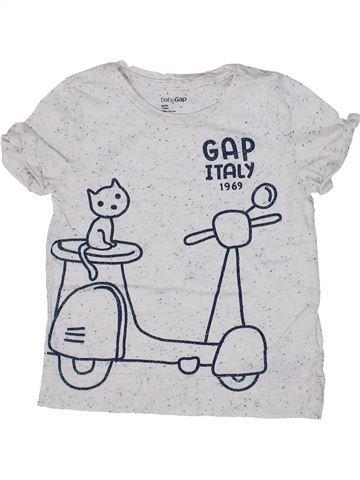 Camiseta de manga corta niña GAP blanco 4 años verano #1302563_1