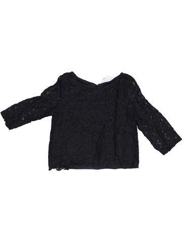 T-shirt manches courtes fille H&M noir 12 ans été #1302565_1