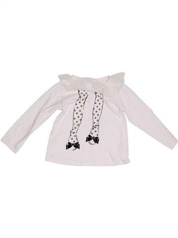 Camiseta de manga larga niña SANS MARQUE blanco 3 años invierno #1302656_1
