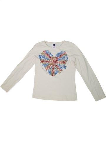 T-shirt manches longues fille M&CO blanc 10 ans hiver #1302812_1