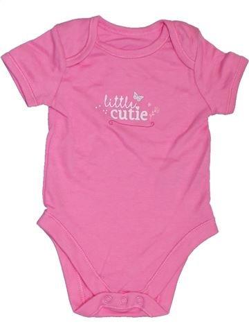 Camiseta de manga corta niña GEORGE rosa 6 meses verano #1302934_1