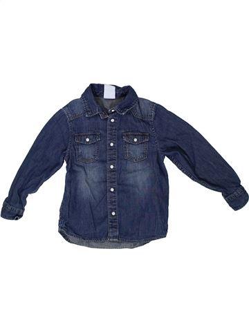 Chemise manches longues garçon H&M bleu 4 ans hiver #1302982_1