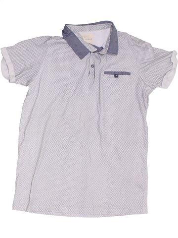 Polo manches courtes garçon RIVER ISLAND blanc 12 ans été #1303011_1