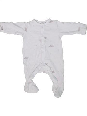 Pyjama 1 pièce garçon MOTHERCARE blanc prématuré été #1303066_1