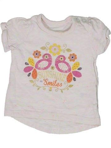 T-shirt manches courtes fille NUTMEG blanc naissance été #1303215_1