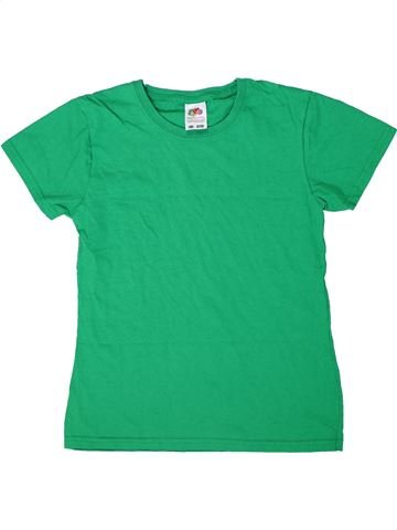 T-shirt manches courtes garçon FRUIT OF THE LOOM vert 12 ans été #1303672_1