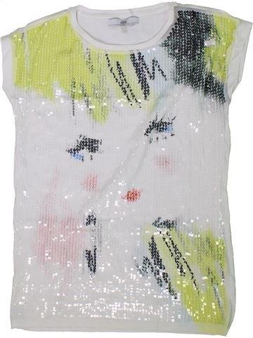 T-shirt manches courtes fille KIDS blanc 12 ans été #1304605_1