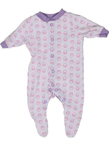 Pyjama 1 pièce fille LILY & DAN blanc prématuré été #1304893_1