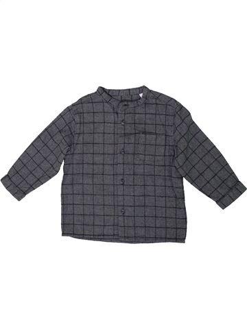 Chemise manches longues garçon ZARA gris 18 mois hiver #1304952_1