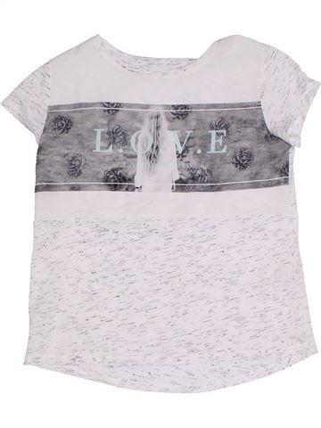 T-shirt manches courtes fille C&A blanc 10 ans été #1305040_1