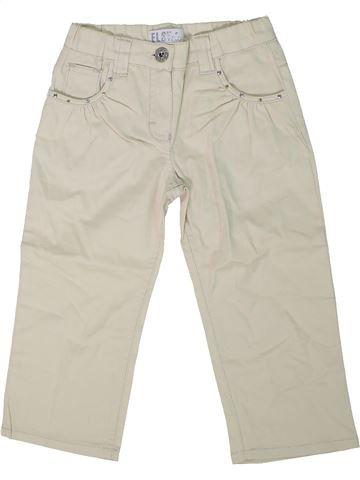 Pantalon fille ELSY blanc 2 ans été #1305069_1