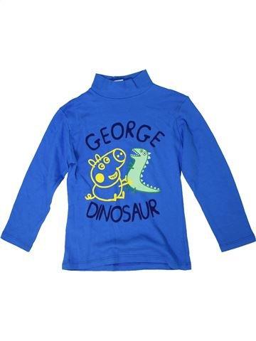 T-shirt manches longues garçon PEPPA PIG bleu 5 ans hiver #1305260_1