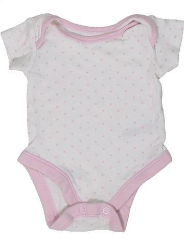 T-shirt manches courtes fille NUTMEG blanc naissance été #1305420_1