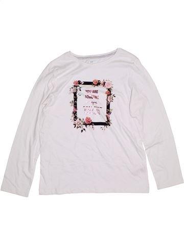 T-shirt manches longues fille PRIMARK blanc 13 ans hiver #1305482_1