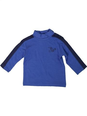 T-shirt col roulé garçon IMPIDIMPI bleu 18 mois hiver #1305636_1
