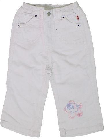 Pantalon fille SANS MARQUE blanc 12 mois hiver #1305667_1