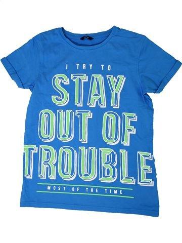 T-shirt manches courtes garçon GEORGE bleu 14 ans été #1305793_1