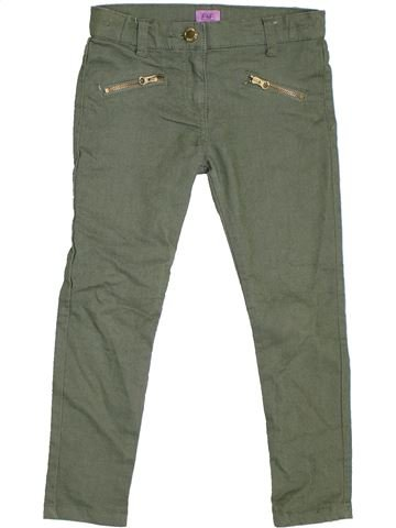 Pantalón niña F&F verde 6 años invierno #1305842_1