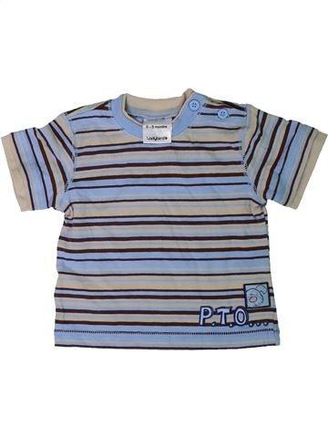 T-shirt manches courtes garçon LADYBIRD gris 3 mois été #1305958_1