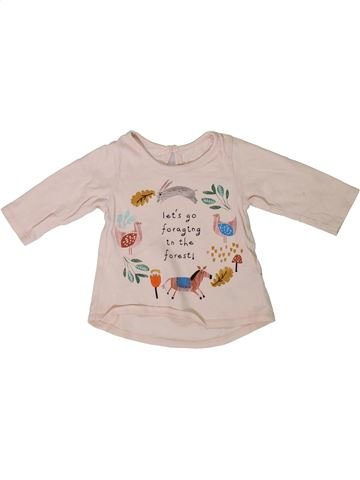 T-shirt manches longues fille MARKS & SPENCER rose 3 mois hiver #1305987_1