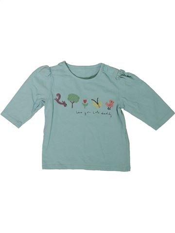 T-shirt manches longues fille MARKS & SPENCER bleu 3 mois hiver #1305988_1