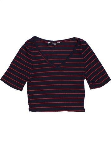 T-shirt manches courtes fille NEW LOOK marron 11 ans été #1306147_1