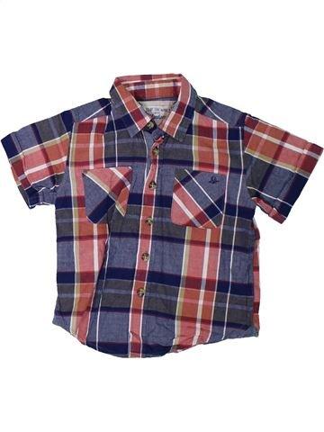 Chemise manches courtes garçon MANTARAY bleu 3 ans été #1306153_1