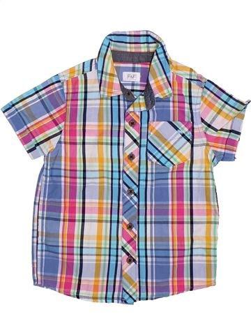 Chemise manches courtes garçon F&F violet 3 ans été #1306176_1