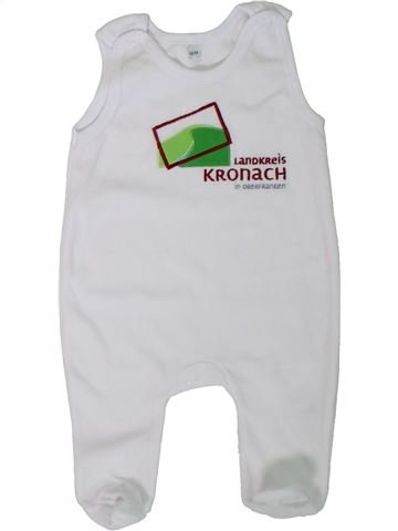 Pijama de 1 pieza unisex SANS MARQUE blanco 6 meses verano #1306319_1