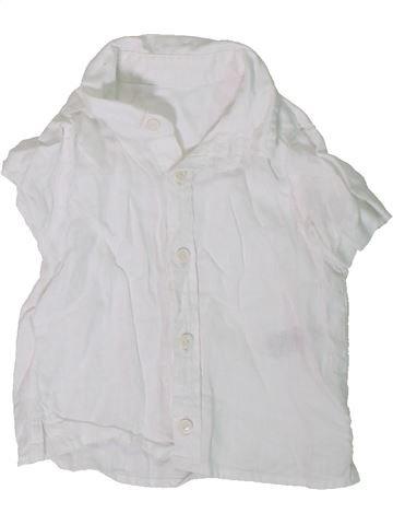 Camisa de manga corta niño MARKS & SPENCER blanco 6 meses verano #1306478_1