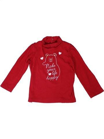 Camiseta de cuello alto niña FAGOTTINO rojo 3 años invierno #1306510_1