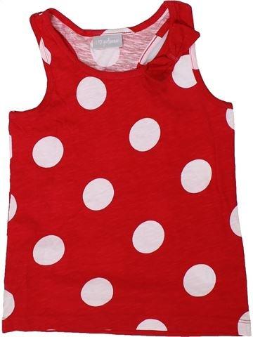 T-shirt sans manches fille I LOVE GIRLSWEAR rouge 7 ans été #1306692_1