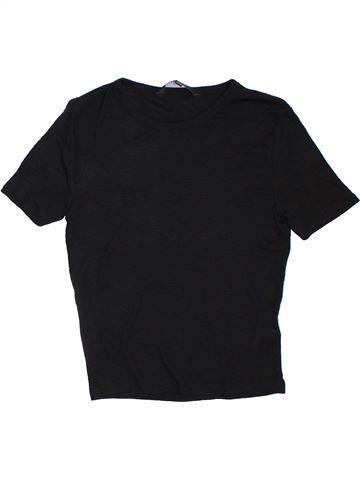 T-shirt manches courtes fille NEW LOOK noir 14 ans été #1306752_1
