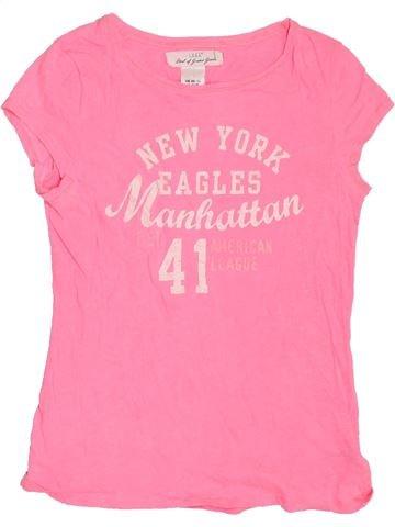 Camiseta de manga corta niña H&M rosa 12 años verano #1306793_1
